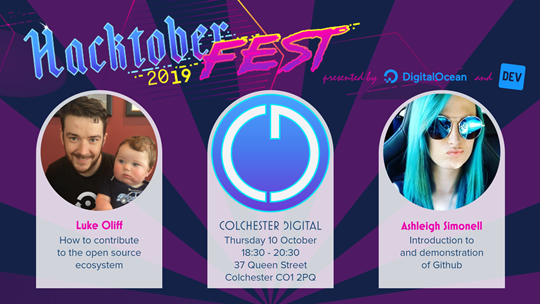 Hacktoberfest® 2019 at Colchester Digital